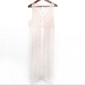 David and young sheer lace ivory wrap